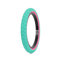 "Rant Squad Tyre, 2.3"" Teal W/ Pink Walls"
