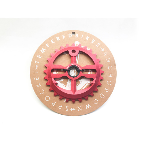 Tempered Anchor Down V1 Sprocket, 28T Red