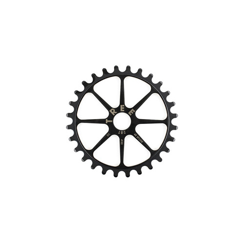Tree Chro-Mo Heat Treated Spline Drive Sprocket, 28T Black