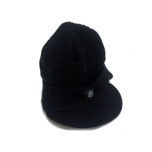 Shadow Ghan Visor Beanie, Black *Sale Item*