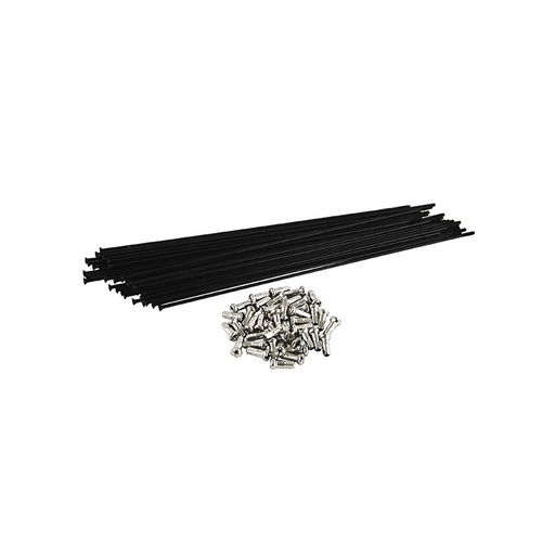 Tree Twigs 'N' Berries Straight Gauge 197mm Spokes and Nipples, Black