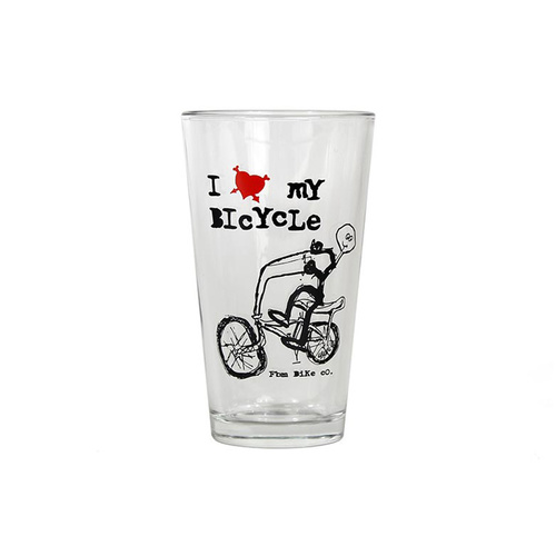 FBM I Love My Bike Pint Glass.