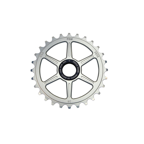FBM Quickness 19mm Spline Drive Sprocket. 25T Polished/Raw