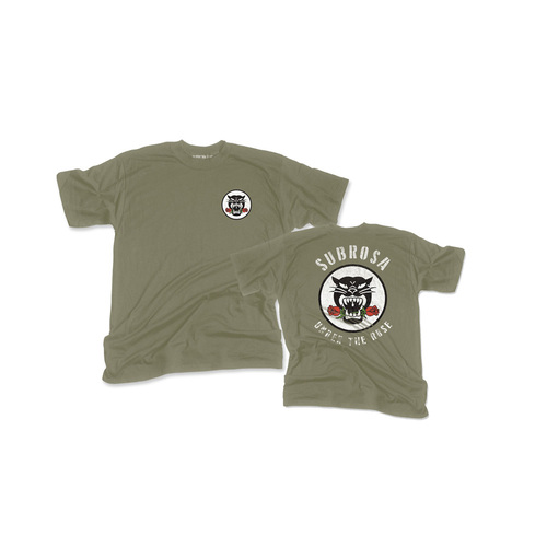 Subrosa Battle Cat Tee, Army Green X/Large