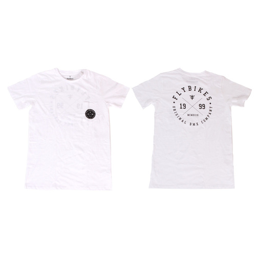 Fly College Pocket Tee, White X/Large*Sale Item*