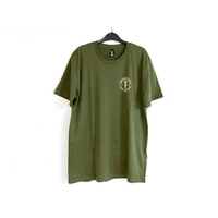 Tempered Abyss Logo Tee, Olive X/Large