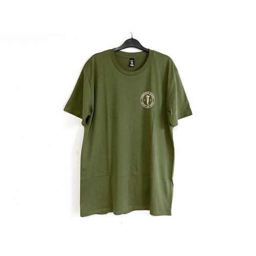 Tempered Abyss Logo Tee, Olive Large